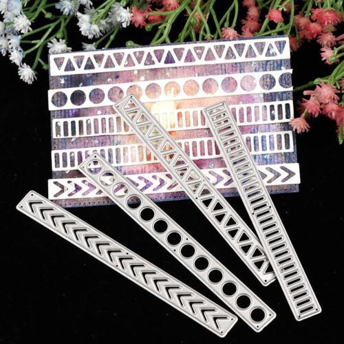 Rectangle Strip Cutting Dies Stencil DIY Scrapbook Album Diary Embossing Craft