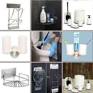 Chrome Corner Shelf Kitchen Storage Rack Holder Bathroom Dispenser