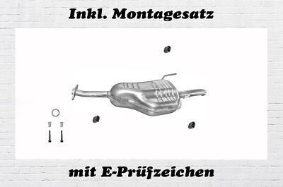 Montagesatz Auspuff Endtopf Mittelrohr Seat Leon// Altea 2.0 TDi Turbo Diesel