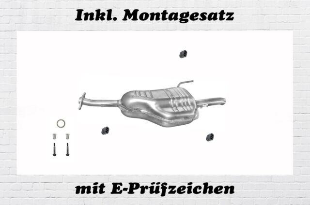 Montagesatz Mittelschalldämpfer OPEL ASTRA G 1.7 TD DTI 1998-2004 Mitteltopf