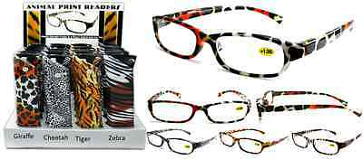 Animal Print Design Fashion Plastic Reading Glasses with Pouch + FREE GIFT!