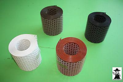 5 Meter PVC 100 mm breit schwarz Vogelschutzgitter Traufgitter Lüftungsgitter