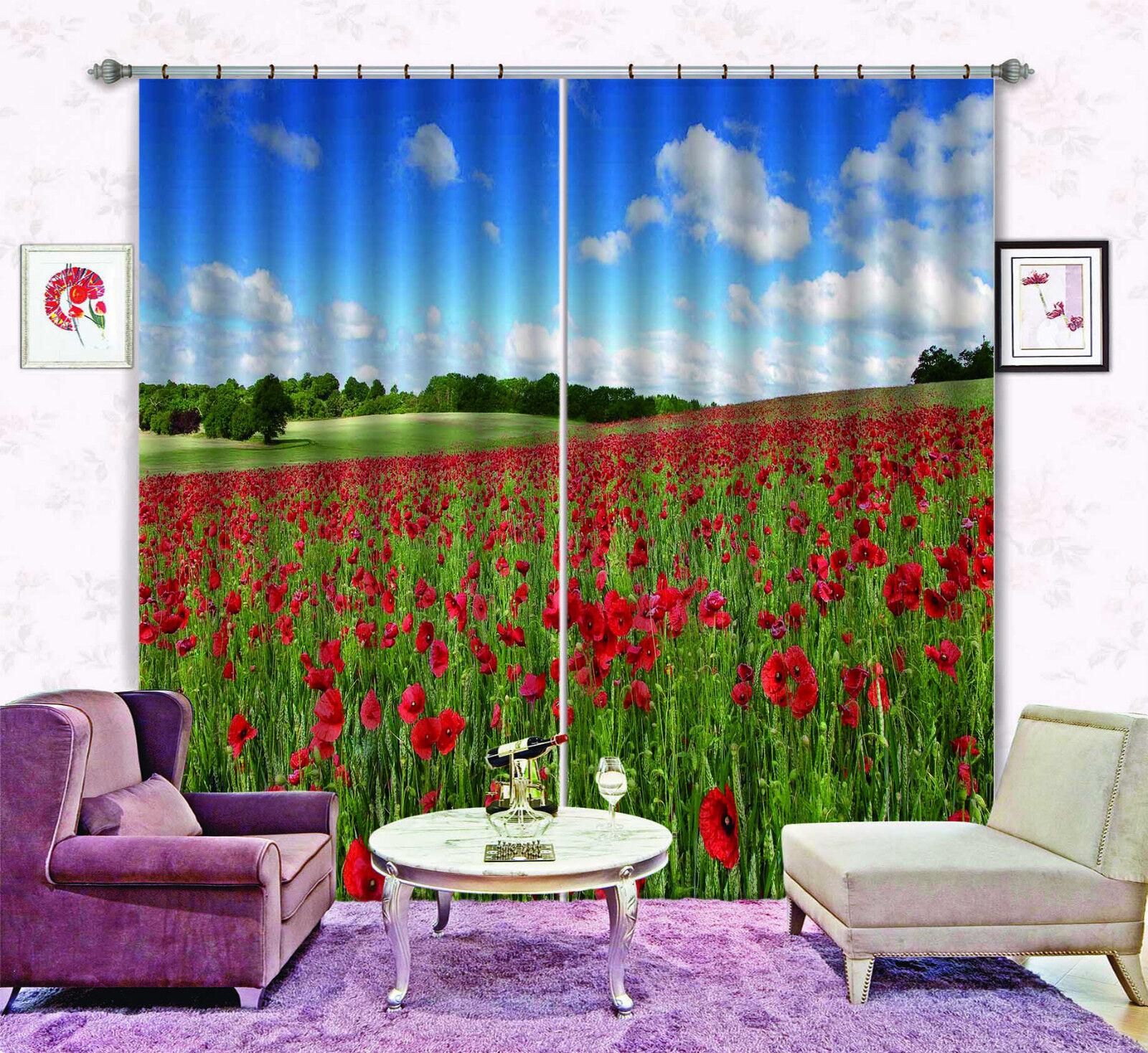 3D flor pendiente Blockout Cortinas de impresión de fotografías Cortina Tela Cortinas Ventana CA