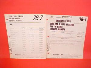 1976 Triumph Tr6 Jaguar Xke Mgb Mg Midget Motorola Am Fm Radio Service Manual 76 Ebay