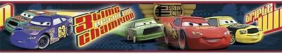 Cars Piston Cup Racers 3-D with Glasses Peel & Stick Wallpaper Border DS026472