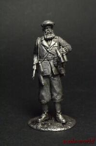 1942 54 mm Tin soldier figure Sniper Maxim Passar