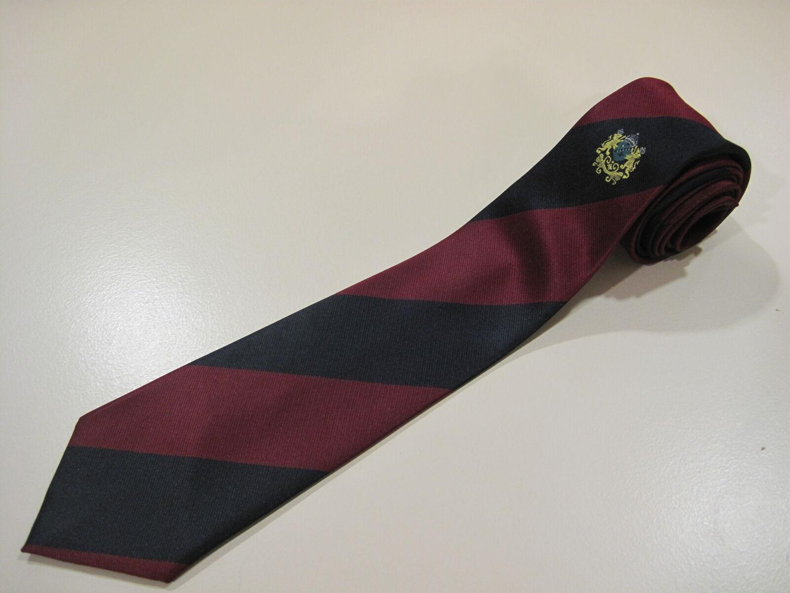 Herren Krawatte von Ron Harper dunkel-rot-blau Designer Muster TOP aktuell