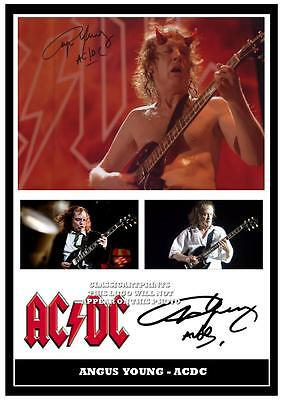 AC//DC  ANGUS YOUNG SIGNED  A4 PHOTOGRAPH GREAT GIFT 275