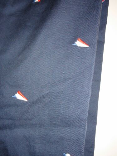 Men/'s LACOSTE LIVE Navy Pants Embroidered Flag Chinos 100/% Cotton Sz 36 X 32 NWT