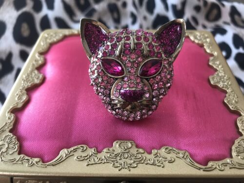 Betsey Johnson Eye Of The Tiger HUGE Fuchsia Ombre