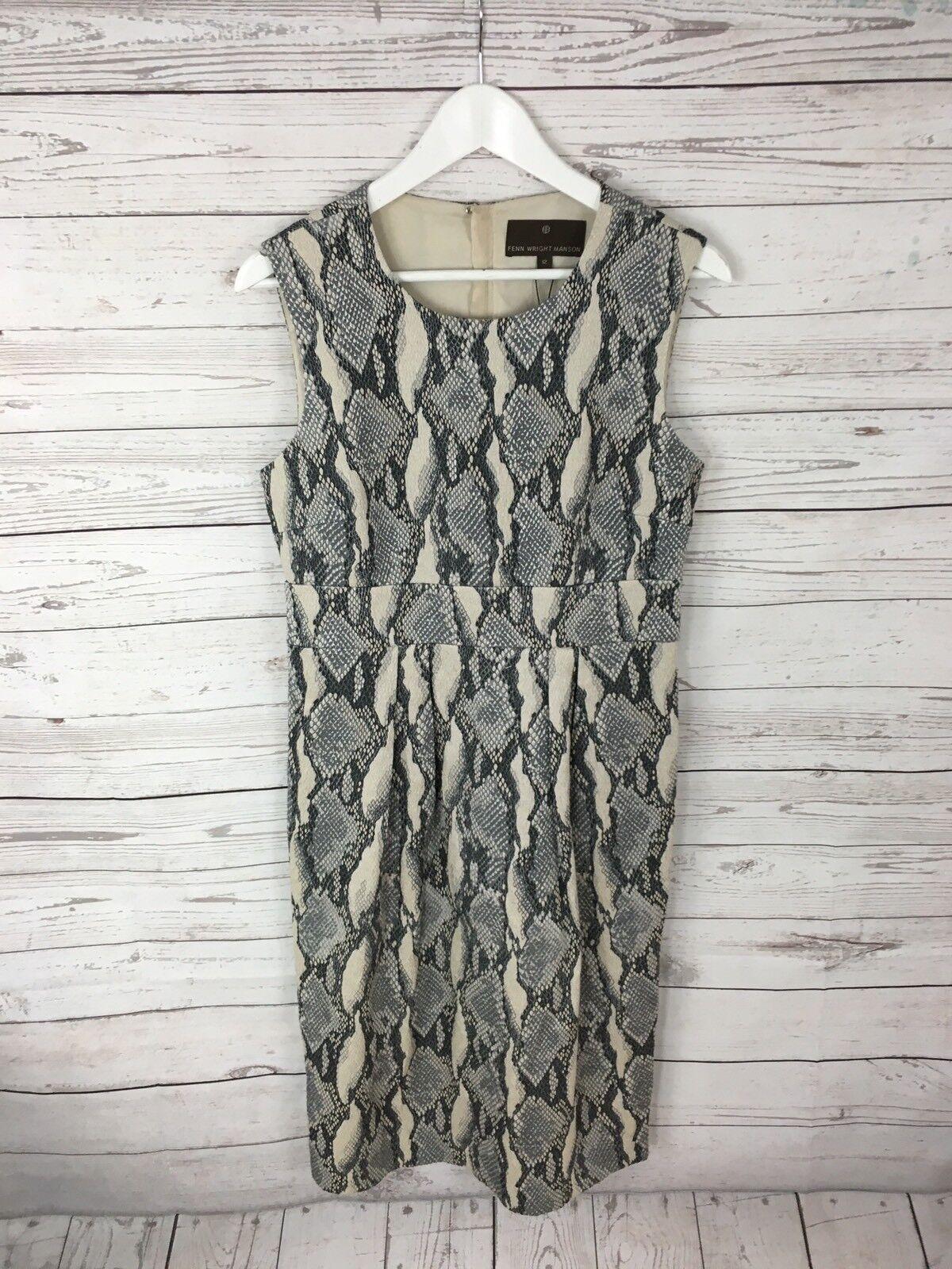 FENN WRIGHT MANSON Dress - Size UK12 - Snakeskin - Great Condition