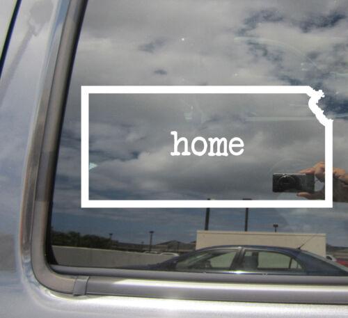 Car Vinyl Die-Cut Decal Sticker 07036 Kansas State Home Outline USA America