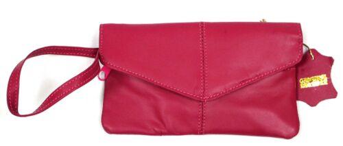 2pc Lot Soft Leather Wristlet Clutch 3 Zipper Pocket for Cash Phone Key Banking
