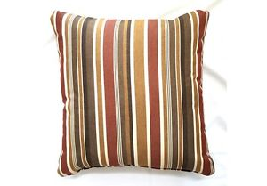 Image Is Loading Throw Pillows Sunbrella Brannon Redwood 5612 Set 2