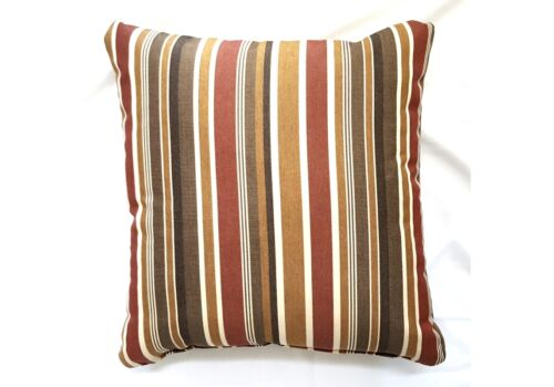 Pillow And Throw Set.Striped Multi Color Square Set 2 Throw Pillows Sunbrella
