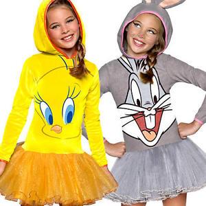 Image is loading Cartoon-Character-Girls-Fancy-Dress-Looney-Tunes-Kids-  sc 1 st  eBay & Cartoon Character Girls Fancy Dress Looney Tunes Kids Childs Book ...