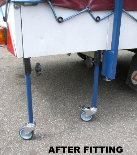Cabanon Trigano SunnCamp Conway Remorque Tente Spares Cuisine à Roulettes jambes 2 Set