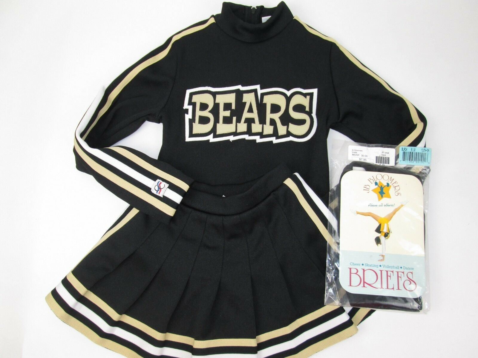 NEW  BEARS Cheerleader Uniform Outfit Costume  LD 26  Top Elastic Skirt +Briefs  wholesale