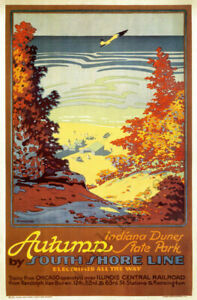 16x24 Outward Bound by South Shore Line 1920s Vintage Railroad Poster