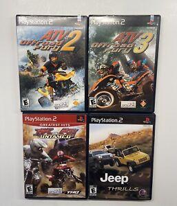 Playstation 2 ATV Offroad Fury 2 & 3, MX vs ATV Untamed, Jeep Thrills PS2 Lot!!