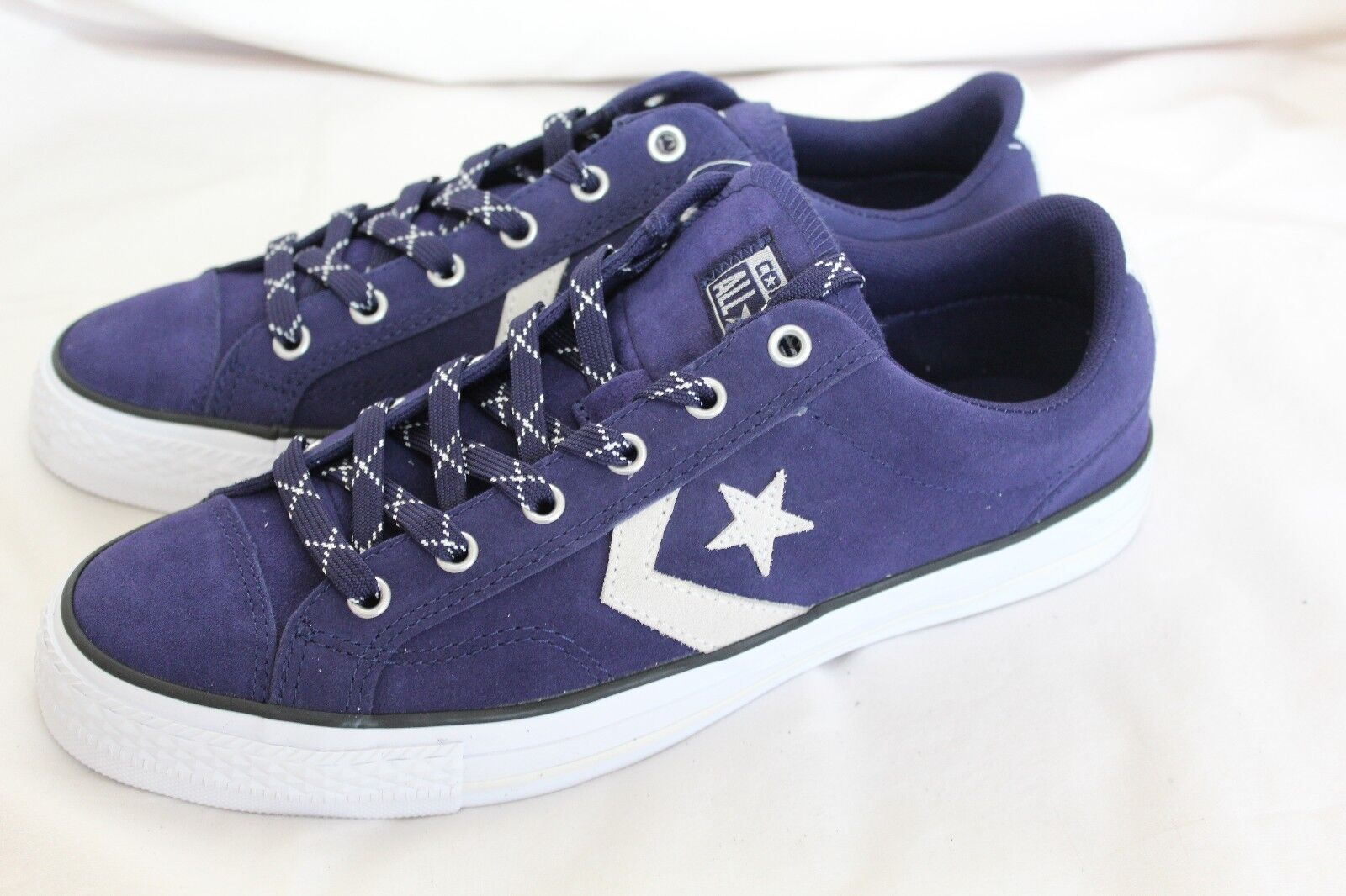CONVERSE BLUE STAR PLAYER  BLUE CONVERSE SUEDE TRAINERS UK SIZES 8a35e3