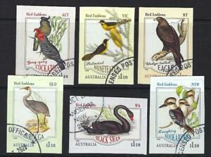 AUSTRALIA-2020-BIRD-EMBLEMS-SELF-ADHESIVE-SET-OF-6-FINE-USED