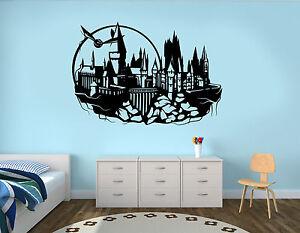 Hogwarts Wall Decal Harry Potter Castle Vinyl Sticker Kids Art Decor