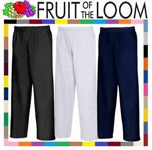 Fruit-of-the-Loom-Men-039-s-Lightweight-Open-Hem-Jog-Pants-Casual-Sweatpants-Bottoms
