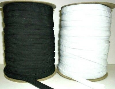 AVAILABLE IN DIFF LENGTHS HIGH QUALITY WHITE WOVEN ELASTIC 1//2 INCH 12MM WIDE