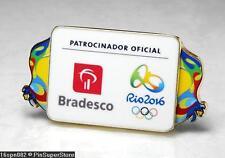 OLYMPIC PINS BADGE 2016 RIO DE JANEIRO BRAZIL BRADESCO SPONSOR COLORS LOGO
