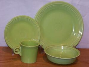 Fiesta-CHARTREUSE-4-Piece-Place-Setting-Discontinued-Color