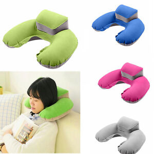 Portable-Travel-Inflatable-Neck-Pillow-U-Shape-Blow-Up-Neck-Cushion-PVC-Flocking