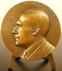 100% Vrai Medaille Au Docteur Henri Bourgeois 1935 Sc Masseau 70 Mm Medal