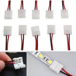 10x-cable-PCB-2-broches-Connecteur-de-bande-LED-3528-5050-adaptateur