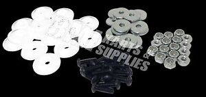 Details about Go Kart Racing White Plastic Washer for Fiberglass Body  Mounting Kit Set NEW