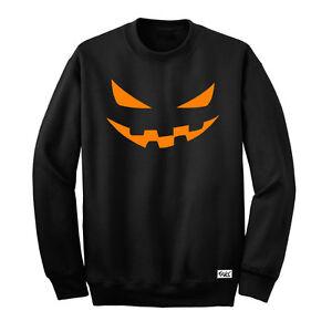 """Eaks ® Hooded Sweatshirt /""""Halloween Pumpkin-Head/"""" Citrouille Hoody Capuche"""