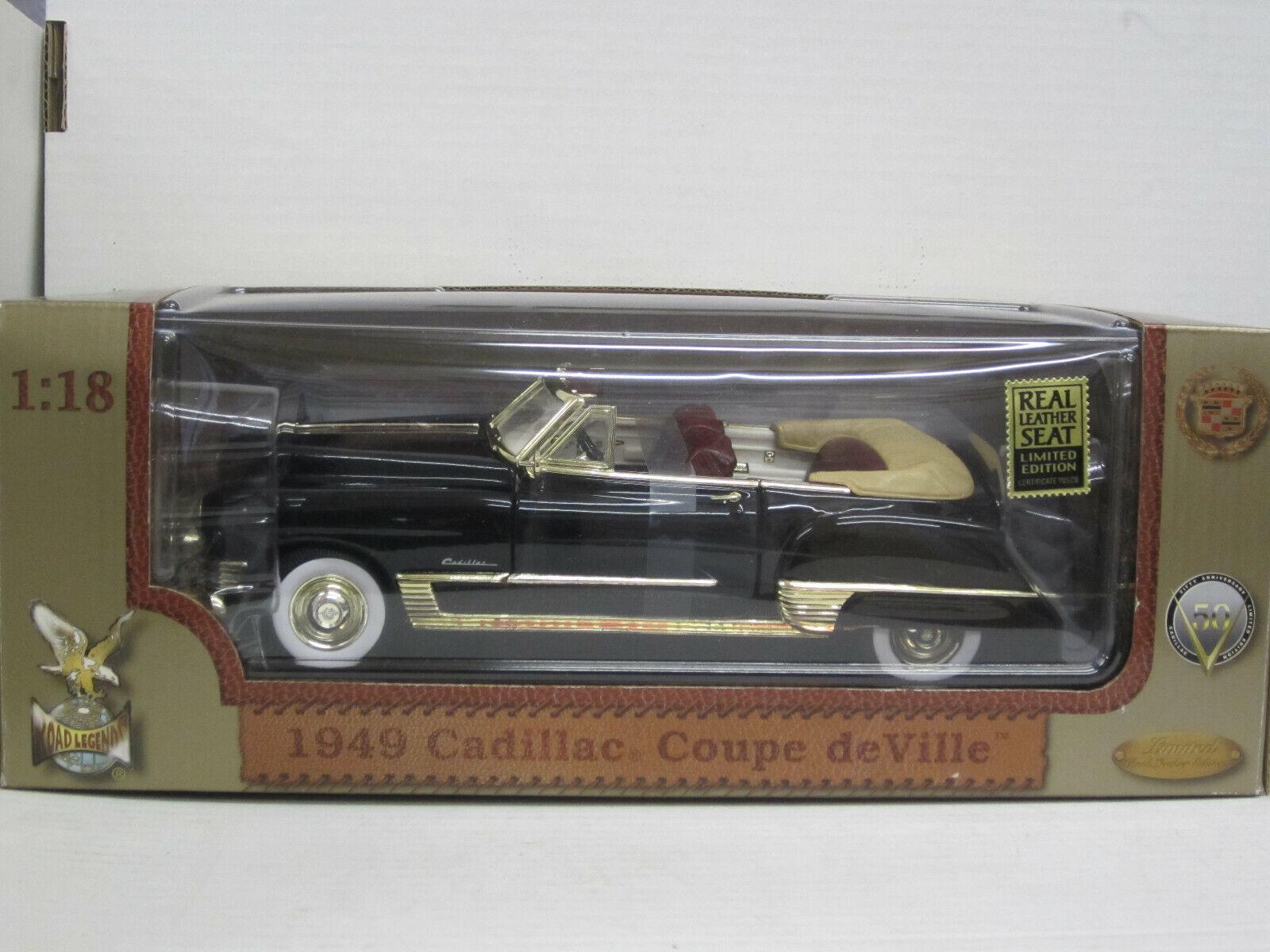 Cadillac Coupe de Ville cabrio 1949, nero, Road Legends, OVP, 1 18, limitado