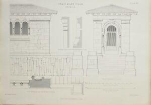 1868-Architektonisch-Aufdruck-Craig-Ailey-Villa-Detail-Leisten-Capital-Pilaster
