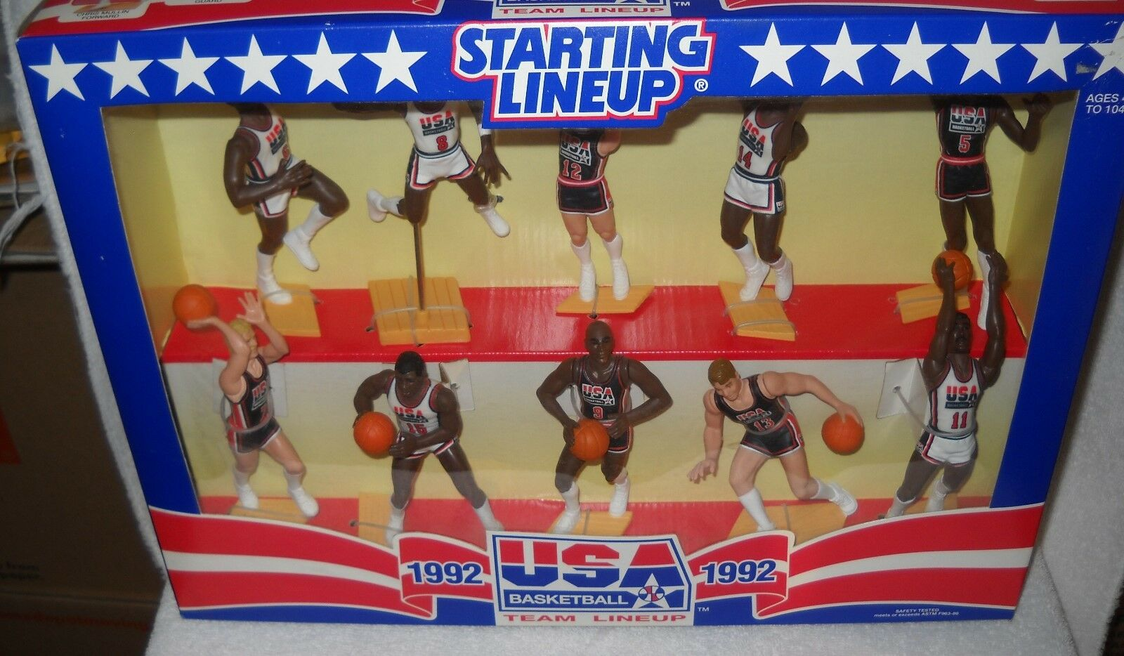 9560 NRFB Kenner Starting Lineup 1992 USA Basketball Team Lineup Set