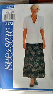 Jacket and Skirt Pattern for size 1418 from See and Sew - <span itemprop='availableAtOrFrom'>Halesowen, West Midlands, United Kingdom</span> - Jacket and Skirt Pattern for size 1418 from See and Sew - Halesowen, West Midlands, United Kingdom