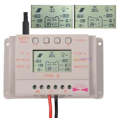 LCD 10/20/30A MPPT Solar Panel Battery Regulator Charge Controller 12V/24V CE BF