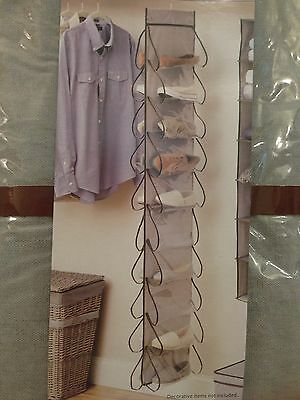 NEW 20 POCKET HANGING CLOSET STORAGE ORGANIZER FOR SHOES/SCARVES/SWIMSUITS &MORE