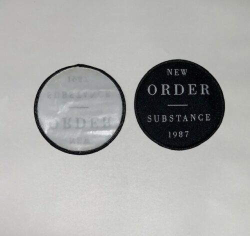 New Order Substance 1987 Iron On Patch blue monday bizarre love triangle 80s