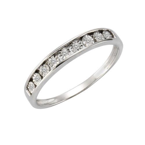 Sterling Silber Diamant weiß Natürlich Damen Glänzend 0,04 Celesta Ring 925//