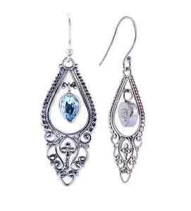 BaliBeauti-Genuine-Stone-Sterling-Silver-Dangle-Earrings