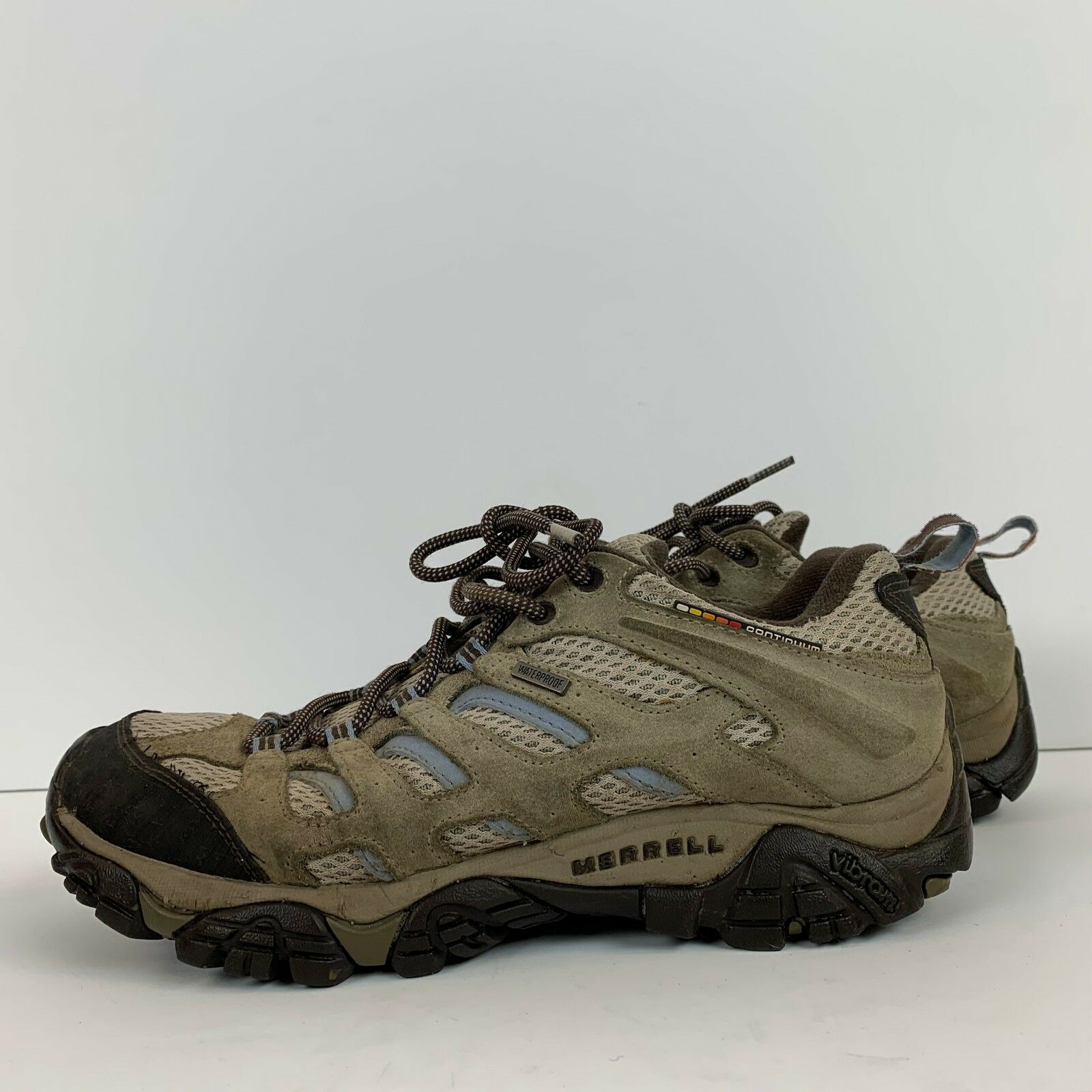 Merrell Womens Moab Ventilator Hiking shoes Size 9 Trail Vibram Waterproof
