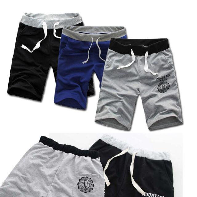 Fashion Men Coton Shorts Pantalon Gym Sport Jogging Pantalon Désinvolte