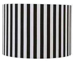 8-034-10-034-12-034-Black-amp-White-Stripe-Lampshade-Ceiling-Pendant