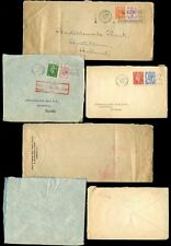 GB KG6 BANK of BRITISH WEST AFRICA PERFINS 3 COVERS to HOLLAND all 6 1/2d 1950-4