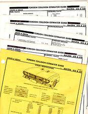 MAZDA 616 618 COUPE SEDAN BODY PARTS LIST FRAME ORIGINAL RARE CRASH SHEETS MF